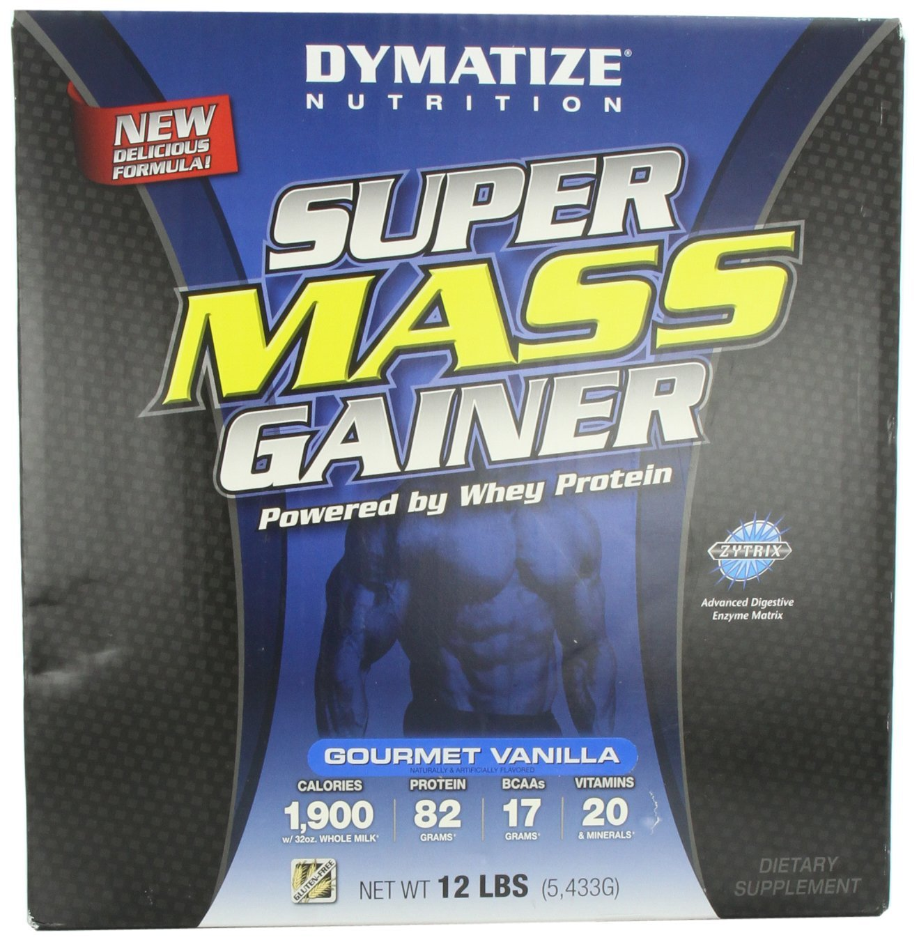 Review Dymatize Nutrition Super Mass Gainer Bodybuilder Science 2 Lbs